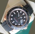 Rolex YACHTMASTER EVEROSEGOLD RUBBER STRAP